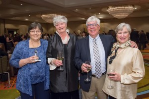 Past President Jim Young with (l to r) Ronnie Harmon, Eileen Young, and Anne Warren.
