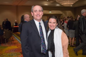 Bruce Goldberger and Carlton Jane-Findley pause for a photo during the annual meeting.