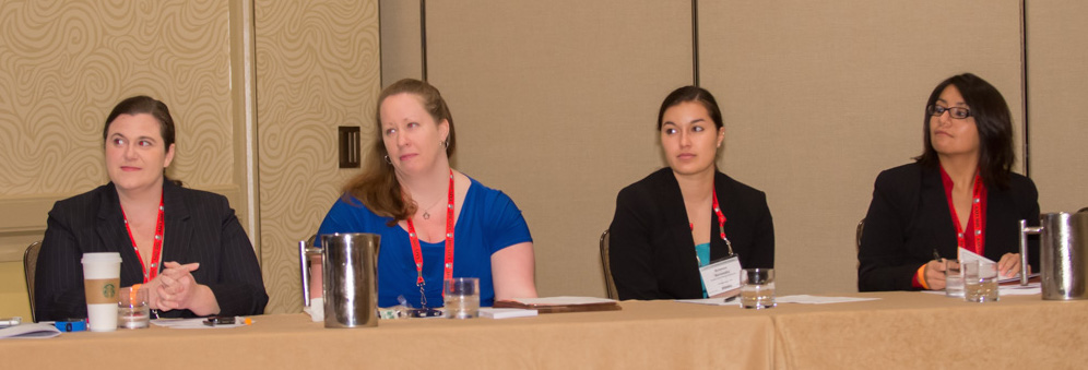 YFSF Special Session Panel (l to r): Christina Hayes, Lara Frame-Newell, Brianna Bermudez, and Betsy Maldonado .