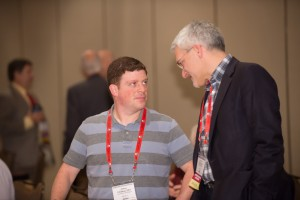 Joshua Friedman, Associate Member in the Criminalistics Section, listens intently to a fellow session attendee.