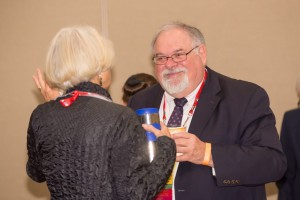 AAFS Past Presidents Patty McFeeley and Barry Fisher talk during the session break.