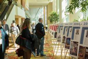 Attendees view the Presidential Poster Display during the 2015 Annual Meeting in Orlando.