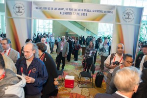 Gil Sapir entering the Exhibit Hall on opening day.