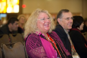 2015 AAFS Distinguished Fellow Honoree Marilyn Huestis attends the Plenary Session in Orlando.