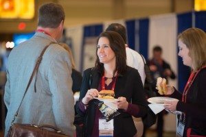 The Exhibit Hall offers attendees both knowledge and a bite to eat.