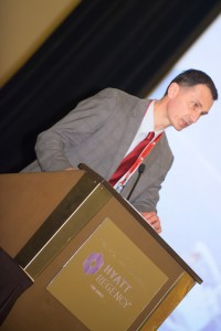 Dragan Primorac speaks during the Annual Business Meeting.